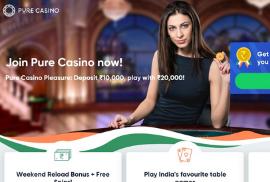 Welcome Bonus at Pure Win Casino