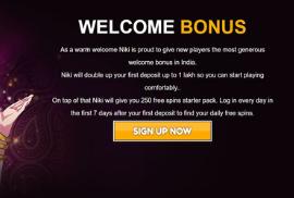 Welcome Bonus Details
